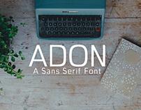 Adon - Free Sans Serif Font