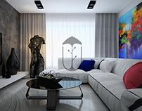 "Interior in ""Art Deco"" style"