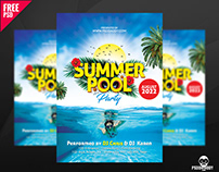 Summer Pool Party Free PSD