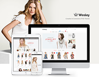 Wesley | Creative eCommerce PSD Theme