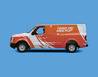 Cargo Van Mock-up free psd