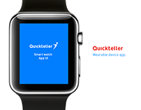 Quickteller wearable device App UI