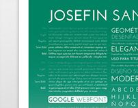 Josefin Sans / Specimen