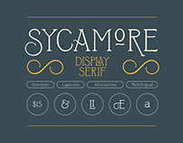 Sycamore — Display Font