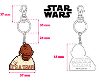 """Star Wars"" keyrings"
