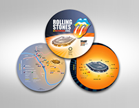 Rolling Stones - City map Guide to the Stadium Design