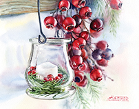 Watercolor Christmas Cards and Illustrations