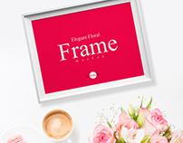 Free Elegant Floral Frame Mockup