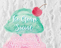 Ice Cream Social Watercolor Design