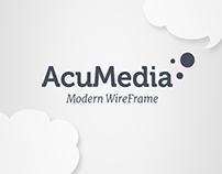 AcuMedia Modern Wireframe