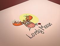 Lovely moose kids shop readymade logo design