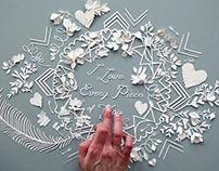 Valentine's Day Paper Cut Campaign