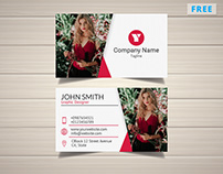 Model with Photo Business Card