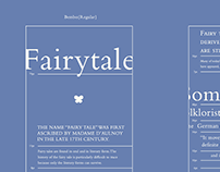 Bembo with Fairytales: type specimen book