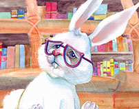 Reading about Mr. Rabbit