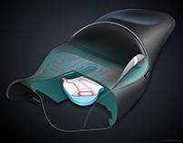 Motorcycle Seat Cutaway