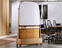 OMI -Whiteboard Room Divider