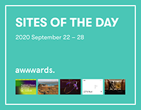 Site of the Day AWWWARDS 2020 September 22 – 28