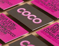 Coco Flocked Business Cards