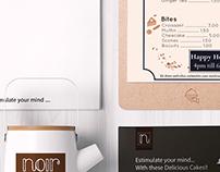 NOIR - Gallery Café Branding