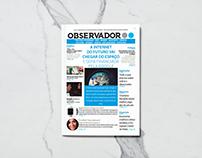 Jornal Observador_Formato Digital_Design de Comunicação