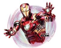 Iron Man Digital Painting - Marvel Fan Art