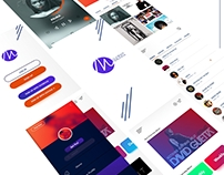 APP DESIGN. ANDROID MOSIC ONLINE STEAMING MUSICS APP