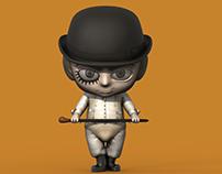 Clockwork Orange 3D Chibi