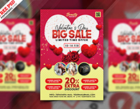 Happy Valentine's Day Sale Promotion Flyer PSD