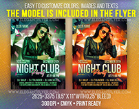 Night Club Party – Free Flyer PSD Template