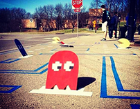 PAC-MAN takes over Bus Stop