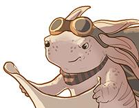 Character Design Challenge: Axolotl Adventurer