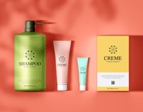 Free Branding Cosmetics Mockup