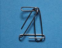 A — Paperclip Letterform Exploration