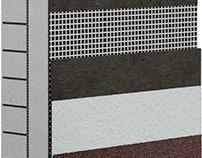 Wall layers/Утепление стены(Предметная визуализация)