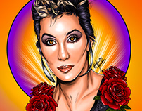 Digital Portrait: Cher 80s