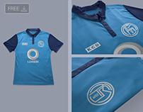 Free Football Soccer Jersey Logo Mockup PSD