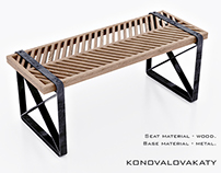 Herringbone bench