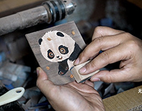 【雪娃娃 x 无二】来财滚滚|嵌木细工