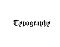 Typography classification
