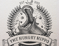 The Hungry Hippo Illustrated Logo