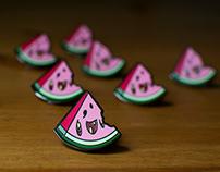 Zombiemelon Enamel Pin