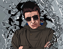 Liam Gallagher wall of glass