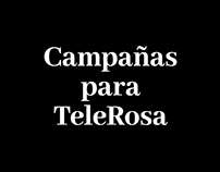 Campañas para TeleRosa. Solo texto.