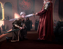 Game of Thrones - HBO - animated concept art