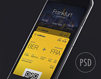 Boarding Pass App UI Design (Freebie)