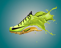 Zapatilla Nike - Fotomontaje