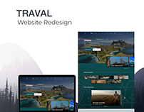 Traval Home Page Redesign