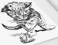 Cute Kittens - Illustrated napkins