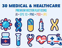(10 FREE icons) Medical & Healthcare Icons Set